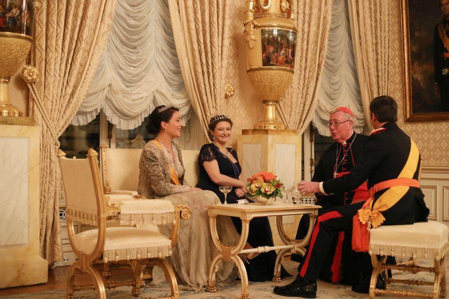 Les princesses Stéphanie et Alexandra et le prince Guillaume de Luxembourg à Luxembourg, le 16 janvier 2019