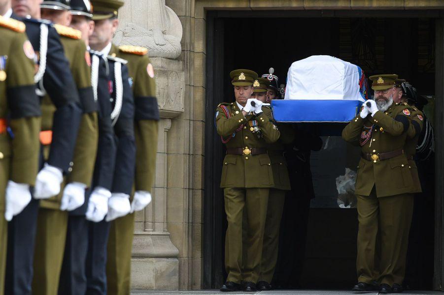 Aux funérailles du Grand-Duc Jean de Luxembourg, samedi, à Luxembourg.