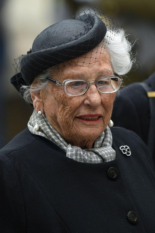 La princesse Astrid de Norvège, à Luxembourg, samedi, lors des obsèques du Grand-Duc Jean.