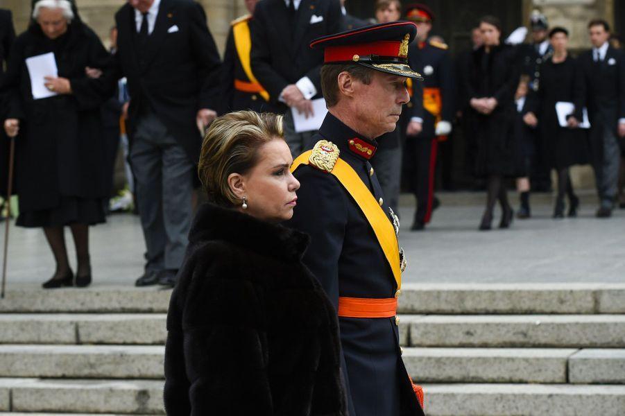 Le Grand-Duc Henri de Luxembourg et la Grande-Duchesse Maria-Teresa, samedi, à Luxembourg.