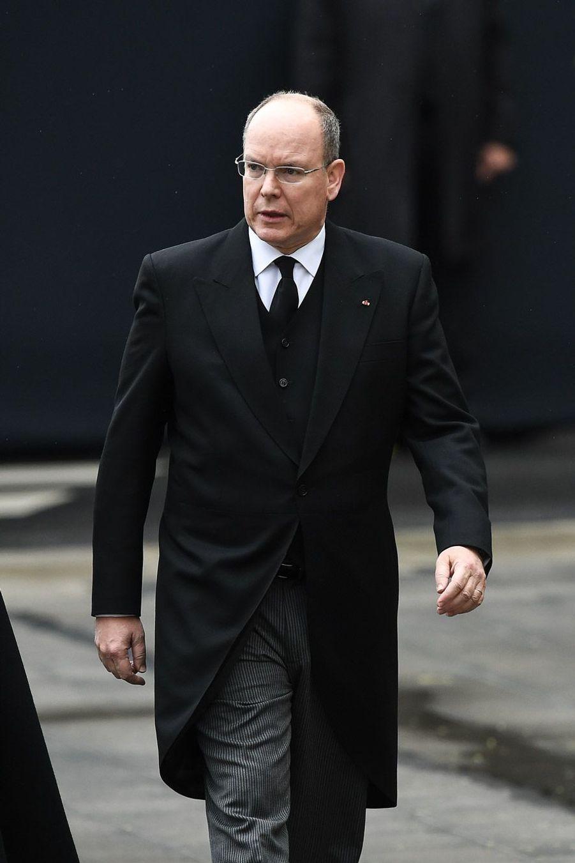 Le prince Albert II de Monaco à Luxembourg, samedi, lors des obsèques du Grand-Duc Jean.