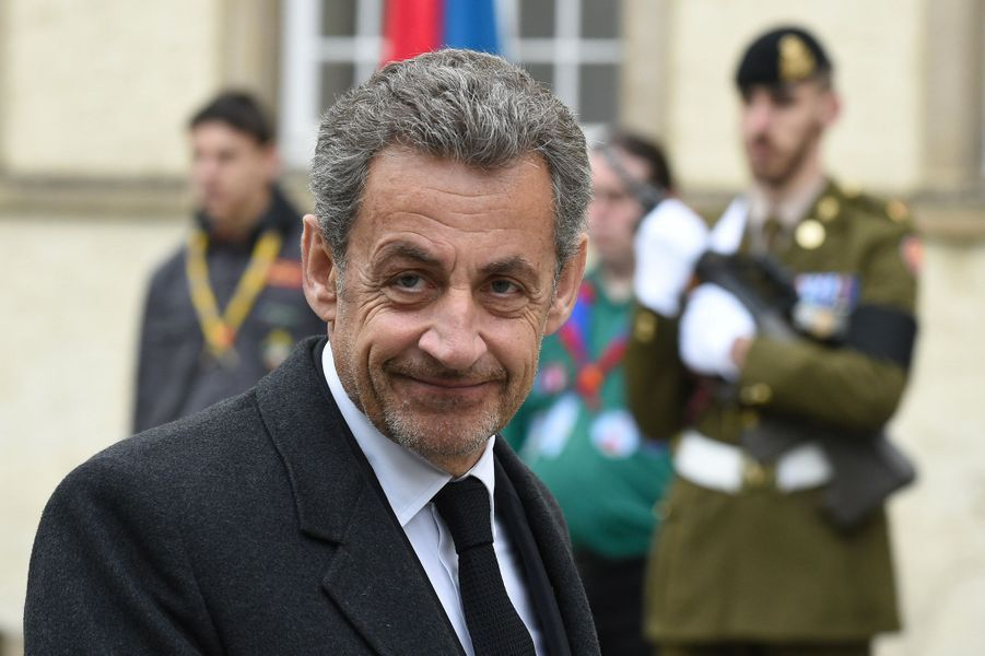 Nicolas Sarkozy, à Luxembourg, samedi, lors des obsèques du Grand-Duc Jean.