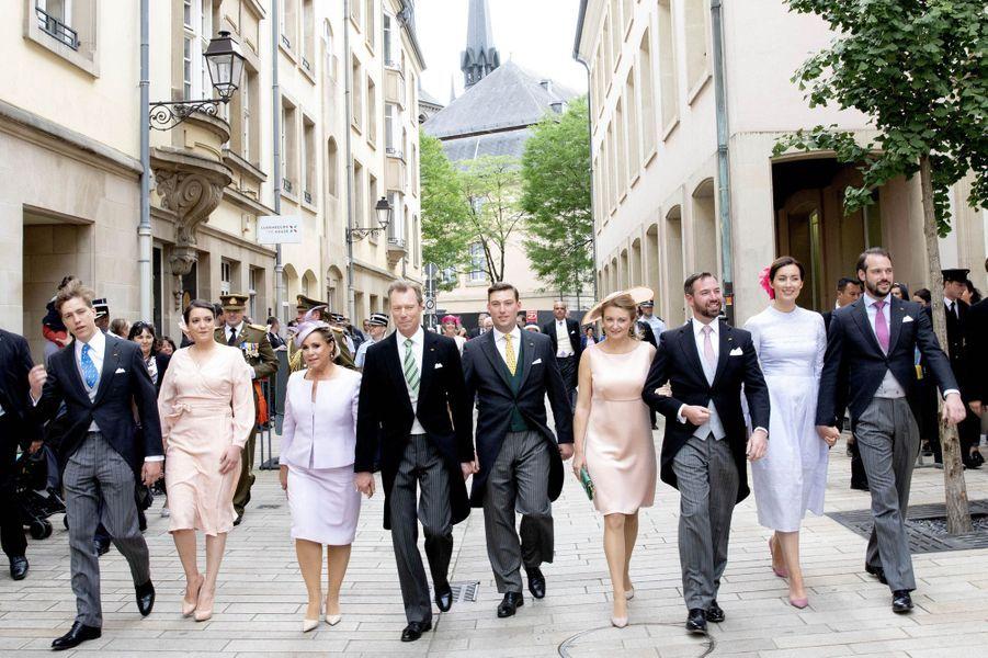 La famille grand-ducale de Luxembourg à Luxembourg, le 23 juin 2018