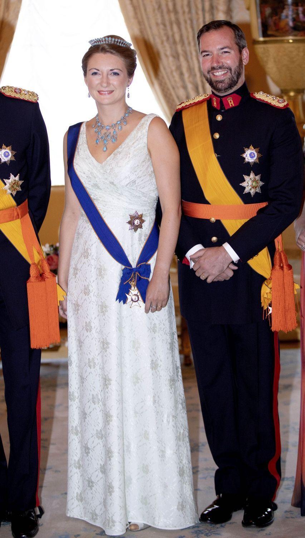 La princesse Stéphanie et le prince Guillaume de Luxembourg à Luxembourg, le 23 juin 2018