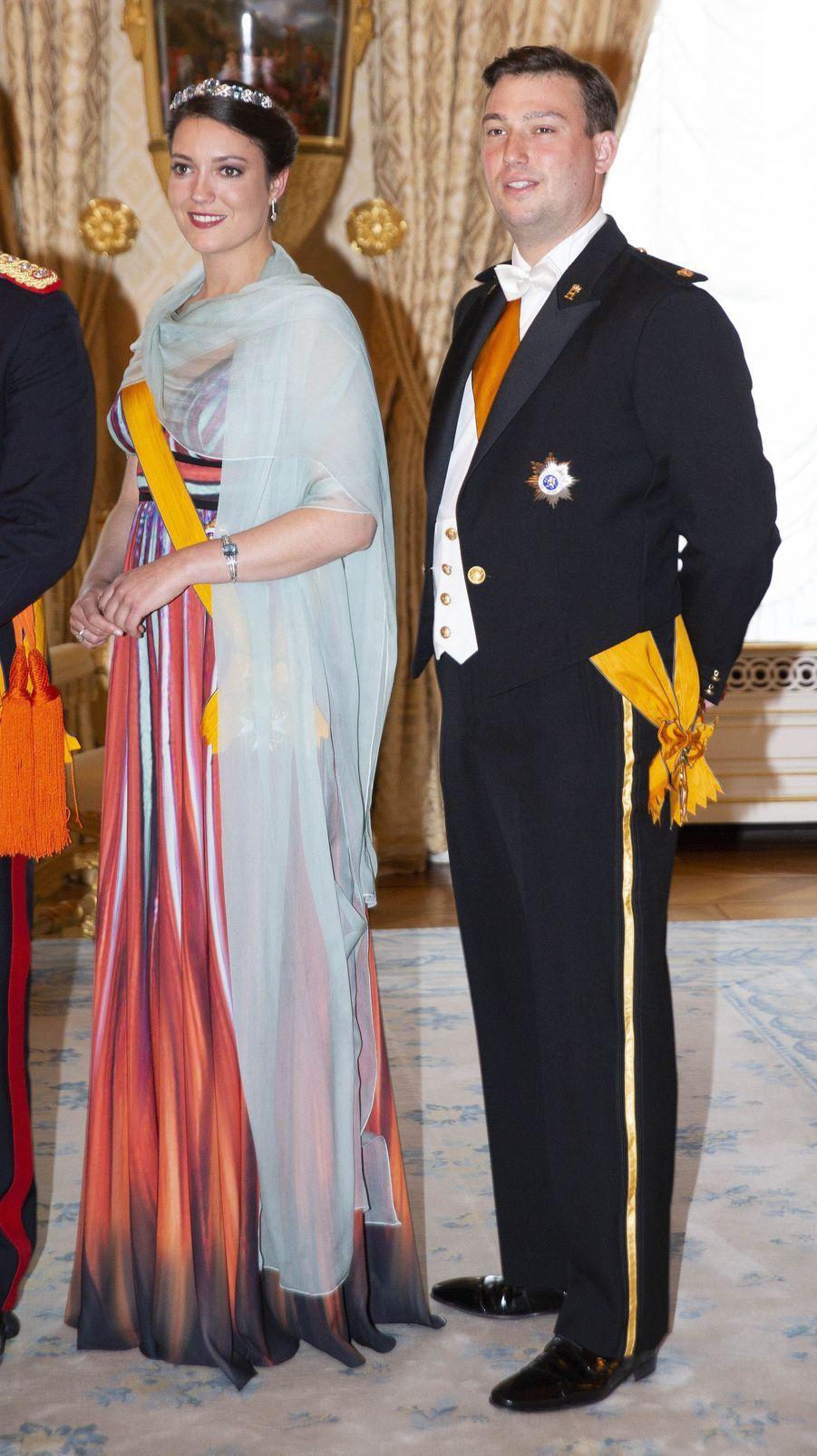 La princesse Alexandra et le prince Sébastien de Luxembourg à Luxembourg, le 23 juin 2018