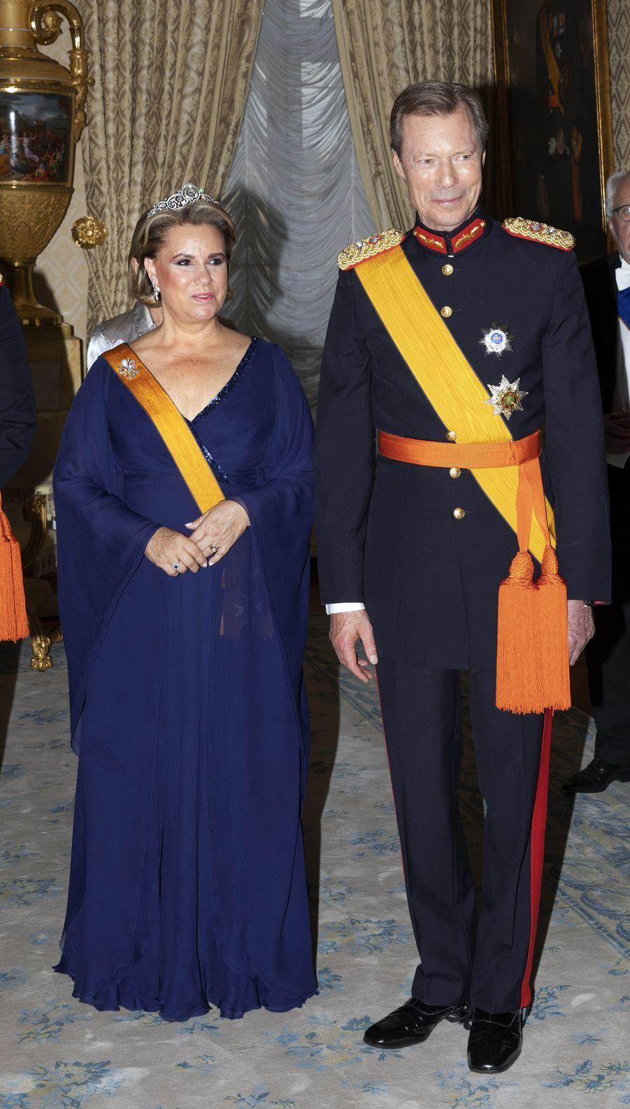 La grande-duchesse Maria Teresa et le grand-duc Henri de Luxembourg à Luxembourg, le 23 juin 2018