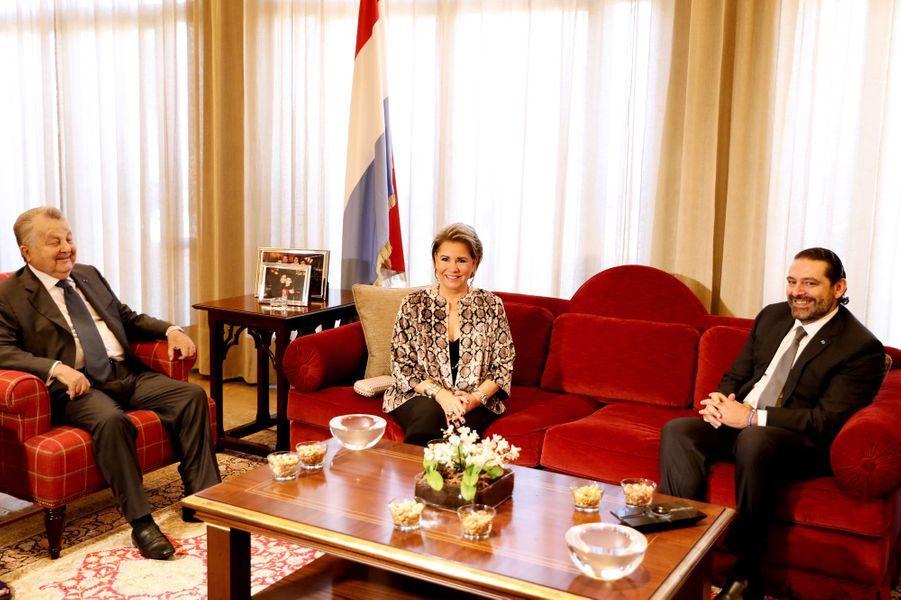 La grande-duchesse Maria Teresa de Luxembourg à Beyrouth au Liban, le 29 octobre 2018