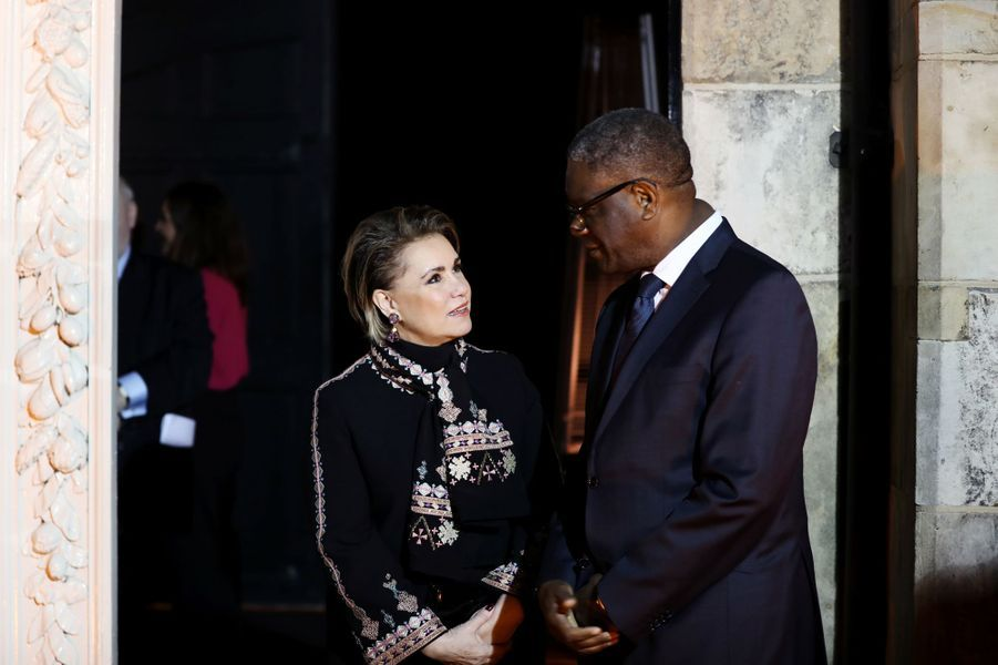La grande-duchesse Maria Teresa de Luxembourg et le Dr Denis Mukwege à La Haye, le 28 novembre 2018