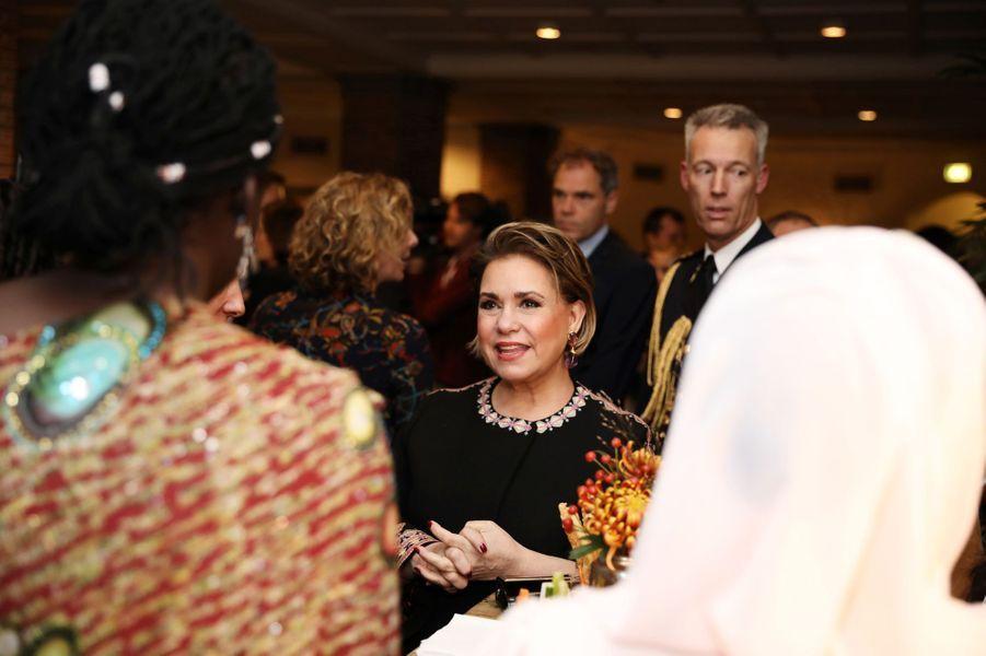La grande-duchesse Maria Teresa de Luxembourg à La Haye, le 28 novembre 2018
