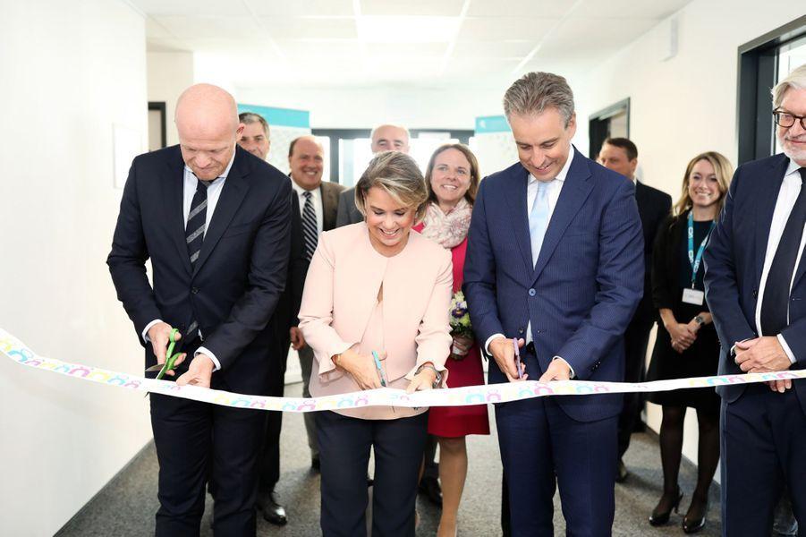 La grande-duchesse Maria Teresa de Luxembourg inaugure un centre d'apprentissage à son nom à Luxembourg, le 24 septembre 2018