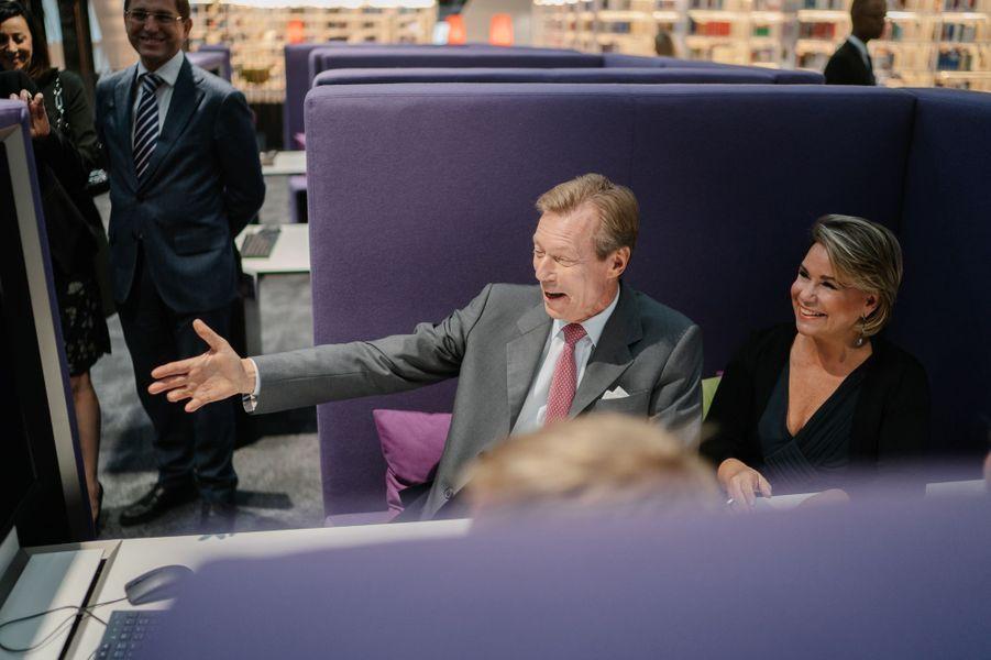La grande-duchesse Maria Teresa et le grand-duc Henri de Luxembourg à Luxembourg, le 24 septembre 2018