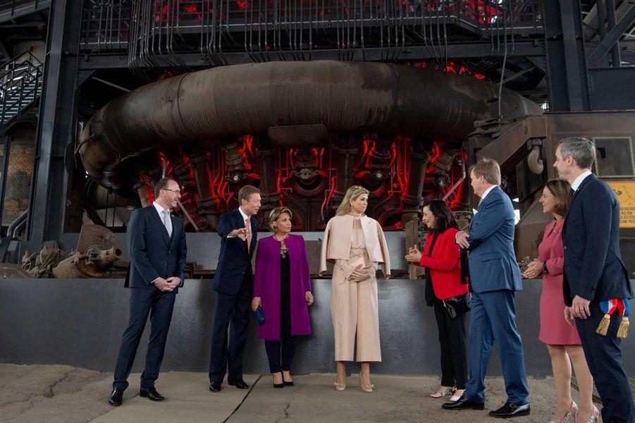 Le couple grand-ducal du Luxembourg et le couple royal des Pays-Bas à Belval, le 24 mai 2018