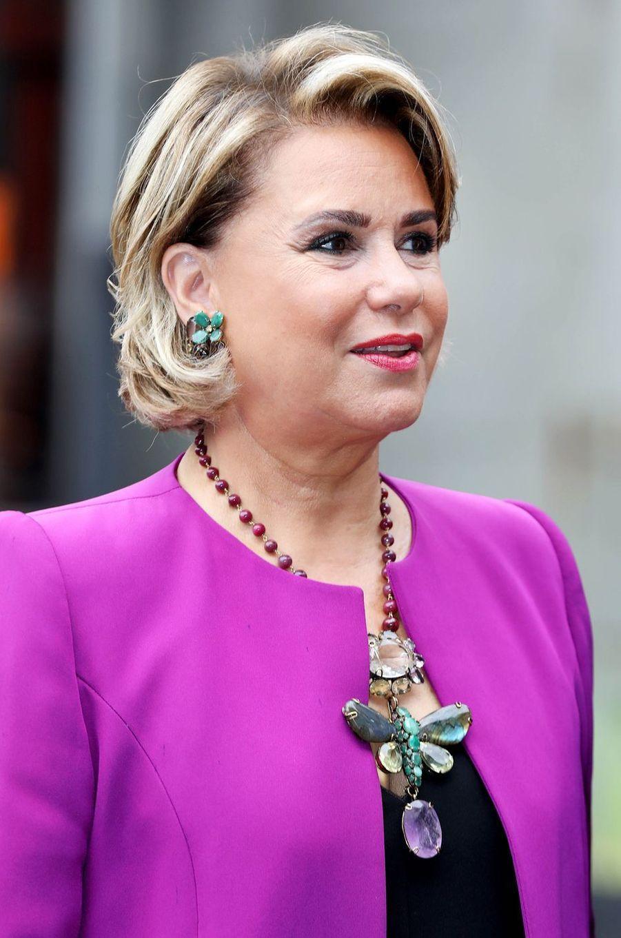 La grande-duchesse Maria Teresa de Luxembourg au Luxembourg, le 24 mai 2018