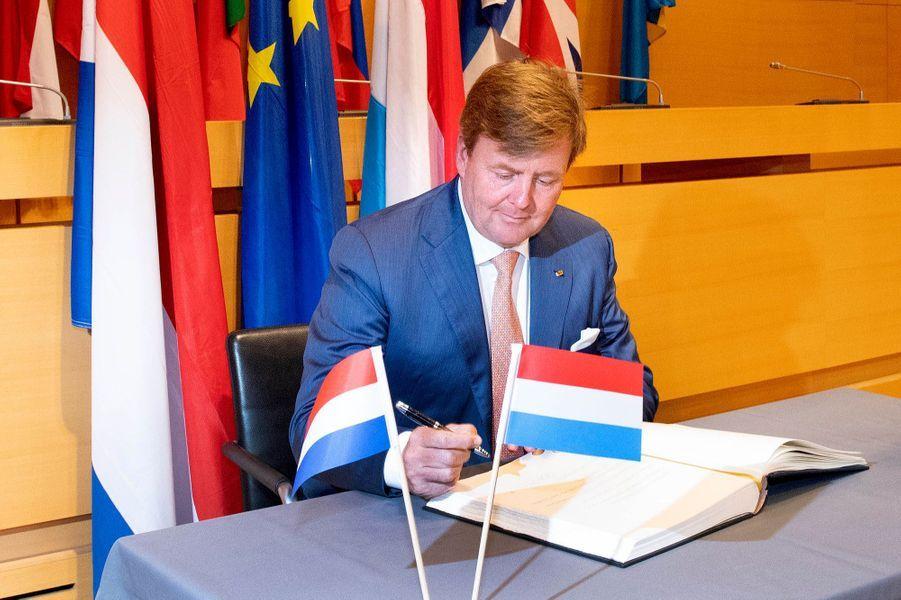 Le roi Willem-Alexander des Pays-Bas à Luxembourg, le 24 mai 2018
