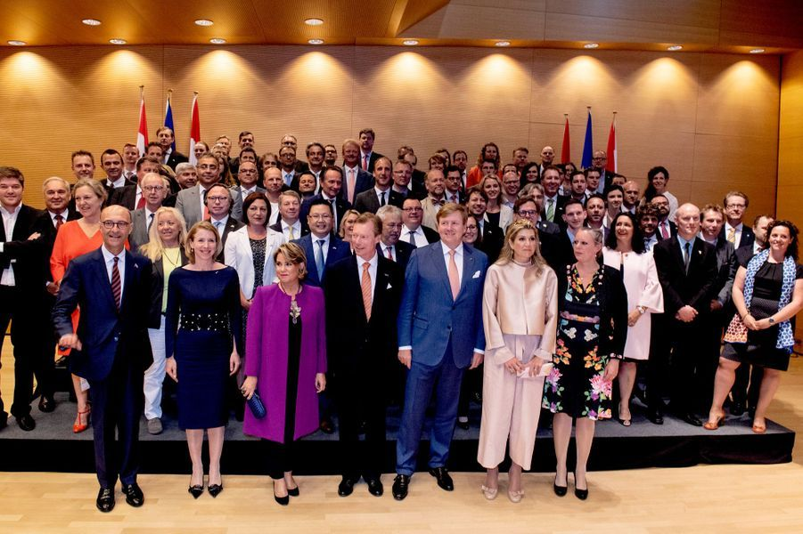Le couple grand-ducal du Luxembourg et le couple royal des Pays-Bas à Luxembourg, le 24 mai 2018