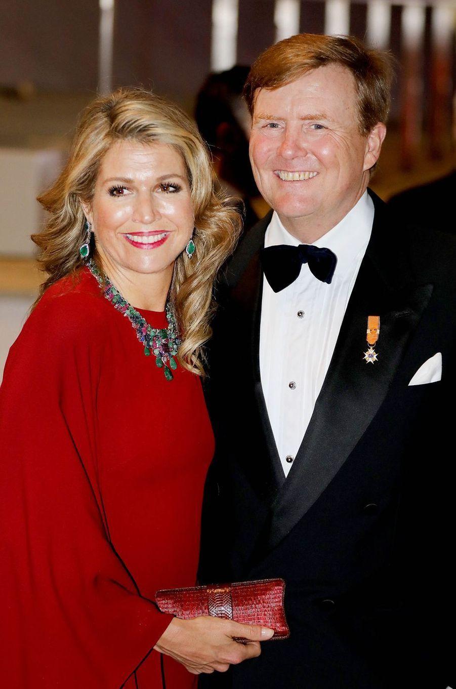 La reine Maxima et le roi Willem-Alexander des Pays-Bas à Luxembourg, le 24 mai 2018