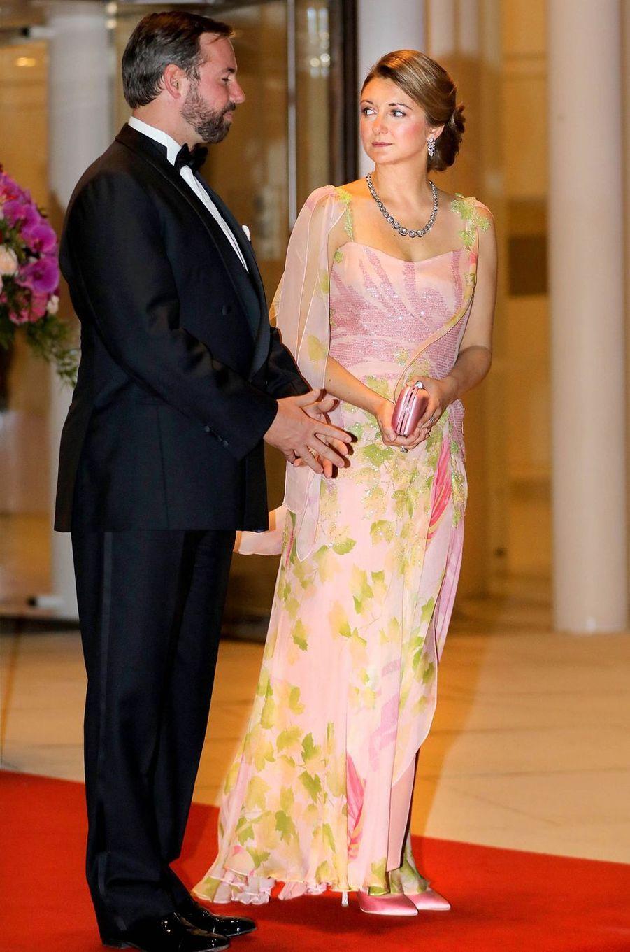 Le prince Guillaume et la princesse Stéphanie de Luxembourg à Luxembourg, le 24 mai 2018