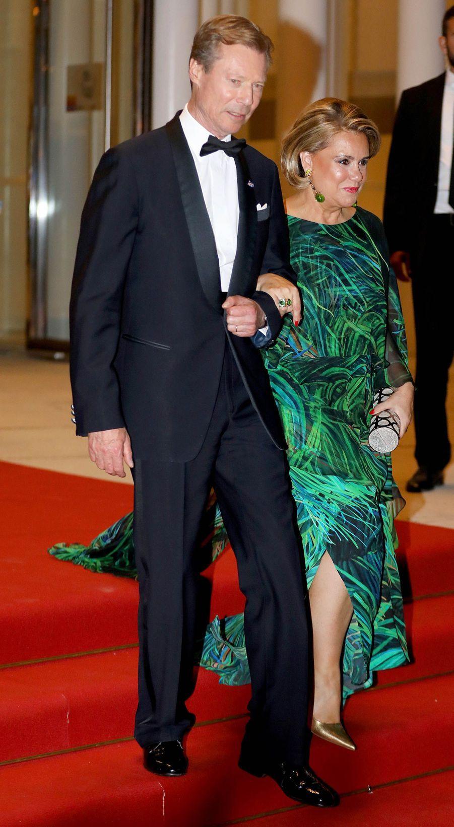 Le grand-duc Henri et la grande-duchesse Maria Teresa de Luxembourg à Luxembourg, le 24 mai 2018