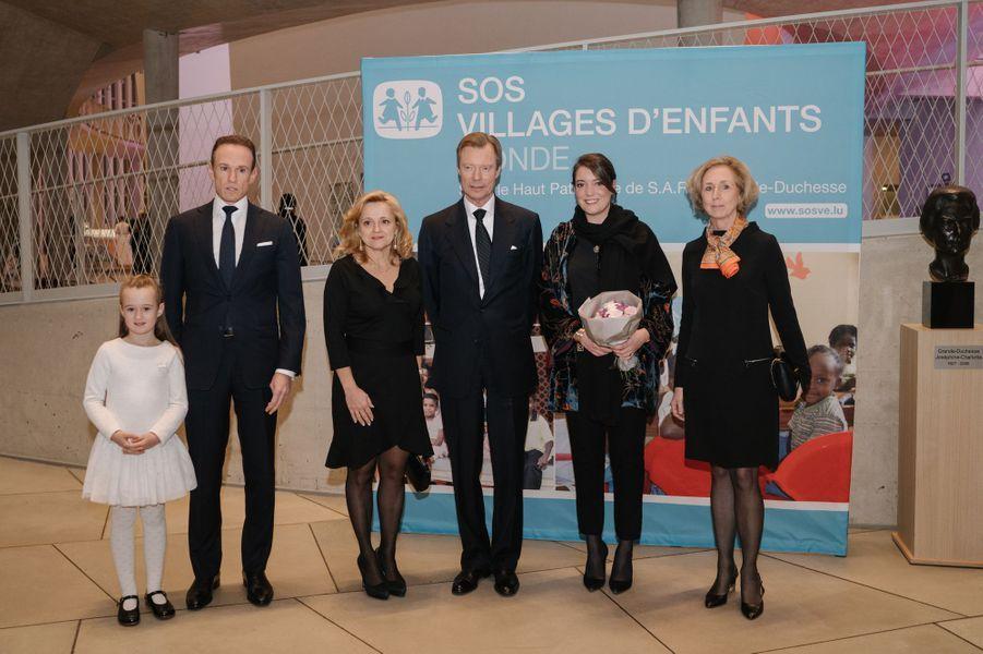 La princesse Alexandra et le grand-duc Henri de Luxembourg à Luxembourg, le 13 décembre 2018