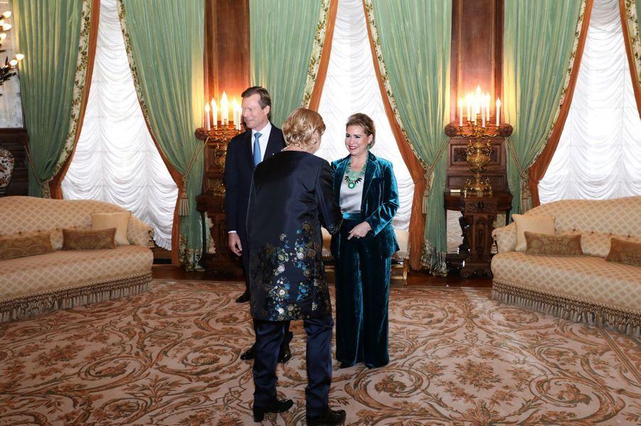 La grande-duchesse Maria Teresa et le grand-duc Henri de Luxembourg, le 8 janvier 2019 à Luxembourg