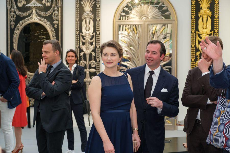 La princesse Stéphanieet le prince Guillaume de Luxembourg à Paris, le 22 mai 2019
