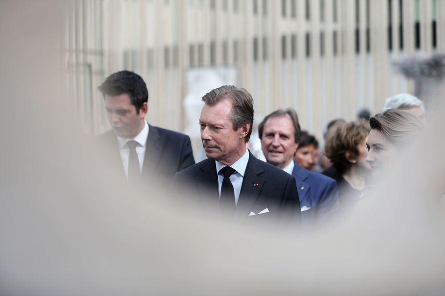 Le grand-duc Henri de Luxembourg et la princesse Stéphanie à Paris, le 22 mai 2019