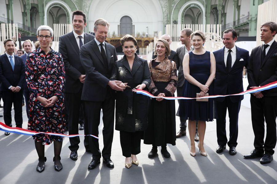 La famille grand-ducale de Luxembourg à Paris, le 22 mai 2019