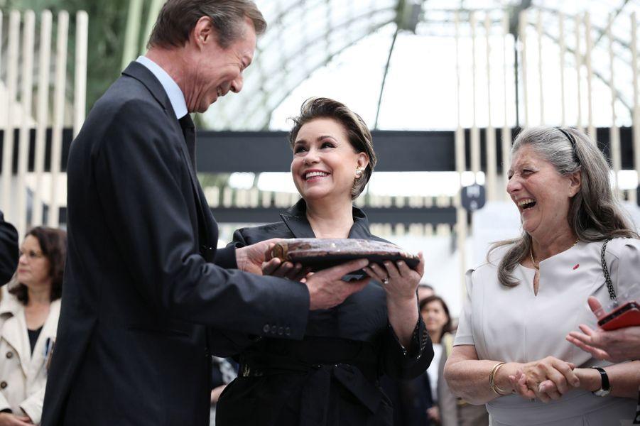 La grande-duchesse Maria Teresa et le grand-duc Henri de Luxembourg à Paris, le 22 mai 2019
