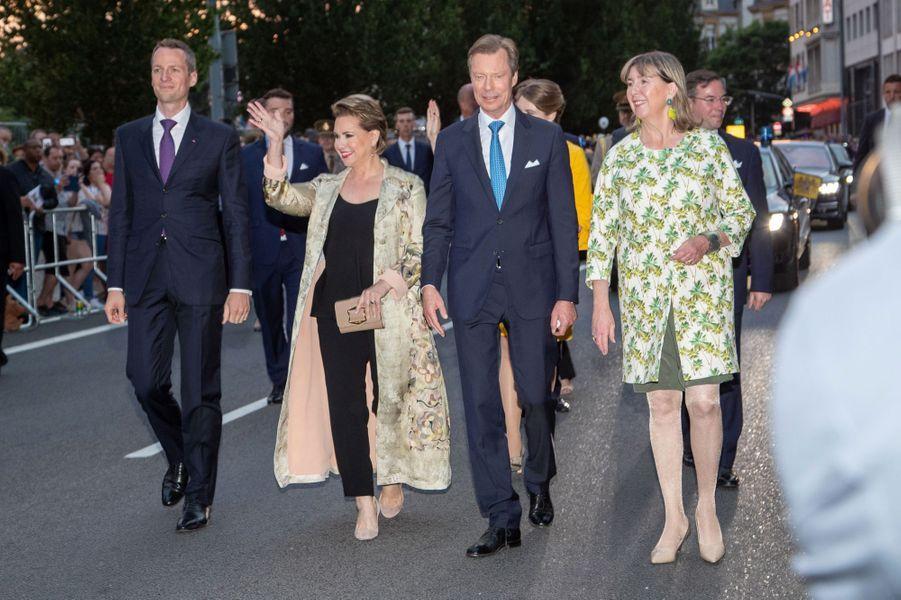 La grande-duchesse Maria Teresa et le grand-duc Henri de Luxembourg à Bourscheid, le 22 juin 2019