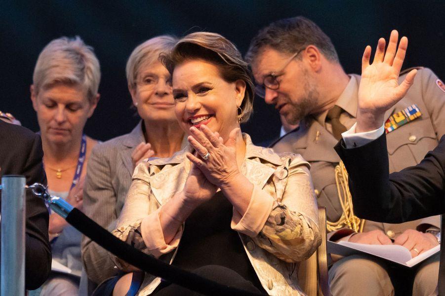 La grande-duchesse Maria Teresa de Luxembourg à Luxembourg, le 22 juin 2019