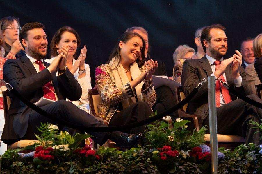 La princesse Alexandra et ses frères les princes Sébastien et Félix de Luxembourg à Luxembourg, le 22 juin 2019
