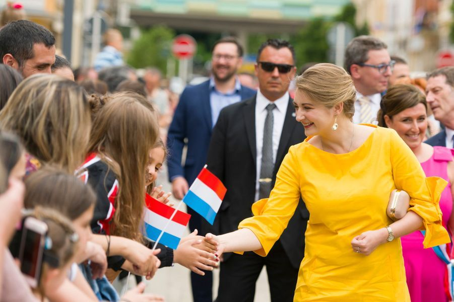 La princesse Stéphanie et le prince Guillaume de Luxembourg à Esch-sur-Alzette, le 22 juin 2019
