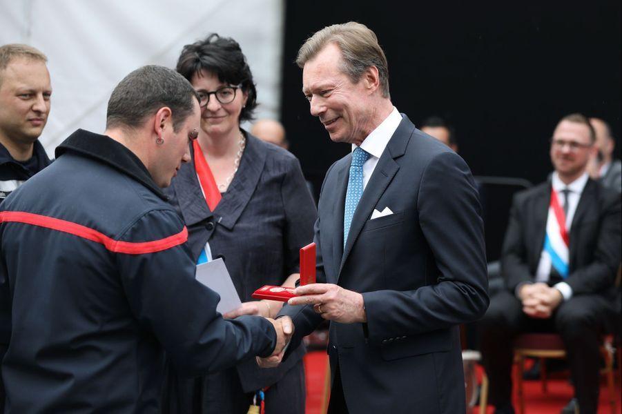 Le grand-duc Henri de Luxembourg à Bourscheid, le 22 juin 2019