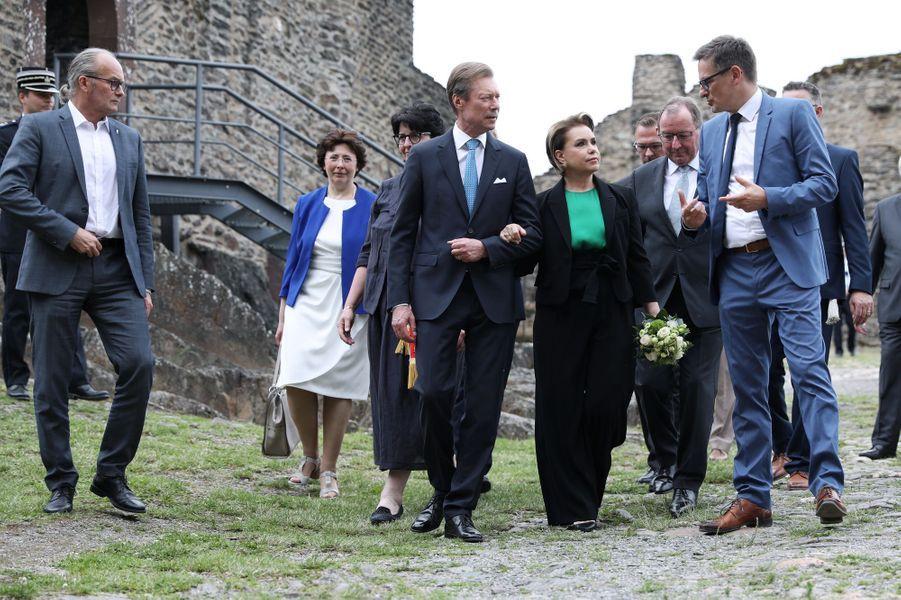 Le grand-duc Henri et la grande-duchesse Maria Teresa de Luxembourg à Bourscheid, le 22 juin 2019