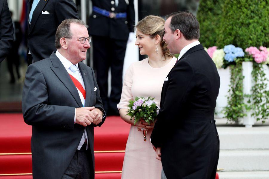 La princesse Stéphanie et le prince Guillaume de Luxembourg à Luxembourg, le 23 juin 2019