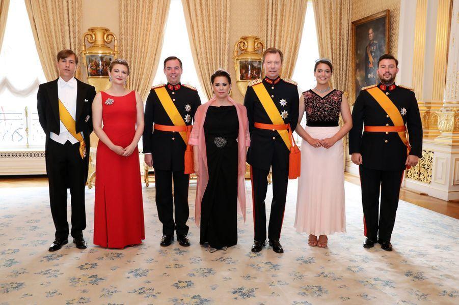 La famille grand-ducale de Luxembourg à Luxembourg, le 23 juin 2019