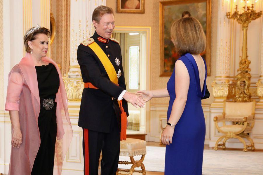 La grande-duchesse Maria Teresa et le grand-duc Henri de Luxembourg à Luxembourg, le 23 juin 2019