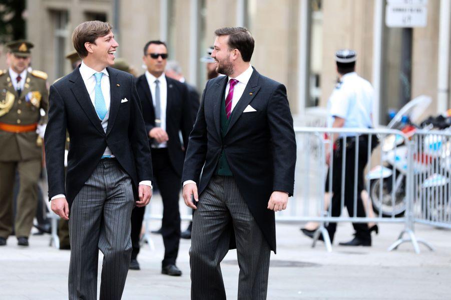 Les princes Louis et Sébastien à Luxembourg, le 23 juin 2019