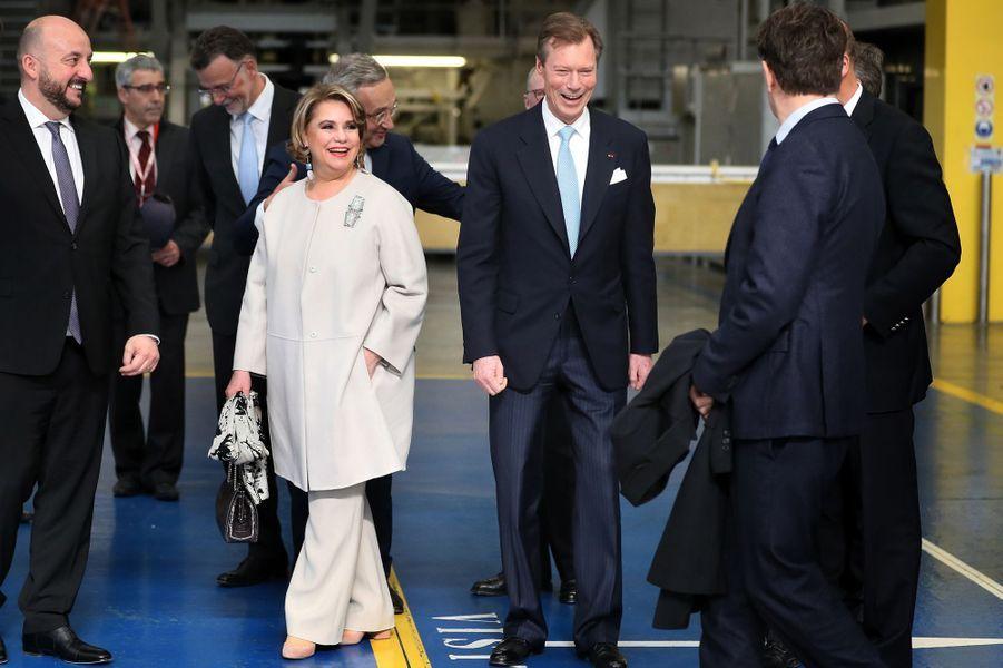 La grande-duchesse Maria Teresa et le grand-duc Henri de Luxembourg à Toulouse, le 21 mars 2018