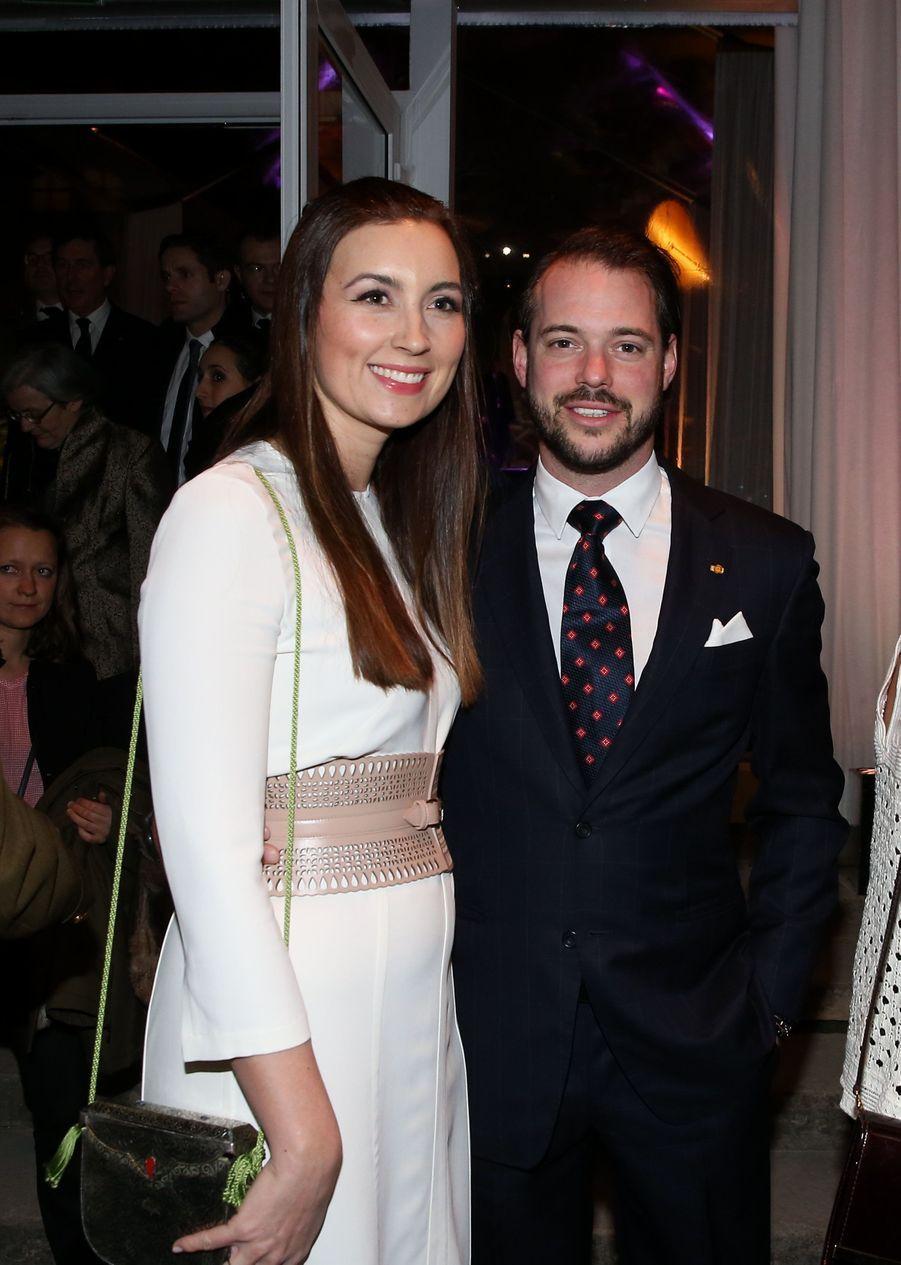 La princesse Claire et le prince Félix de Luxembourg à Paris le 20 mars 2018