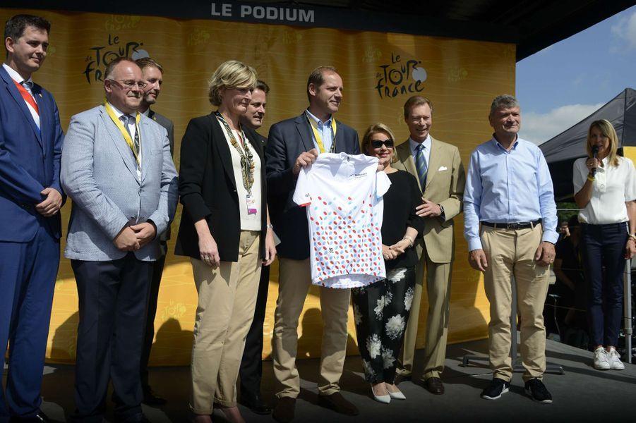 La grande-duchesse Maria Teresa et le grand-duc Henri de Luxembourg à Mondorf-les-Bains, le 4 juillet 2017