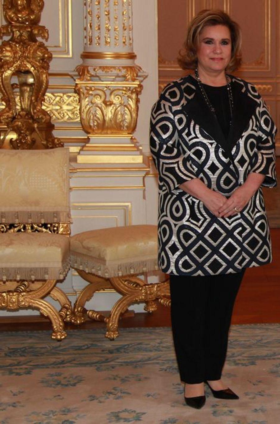La grande-duchesse Maria Teresa de Luxembourg à Luxembourg, le 26 février 2016
