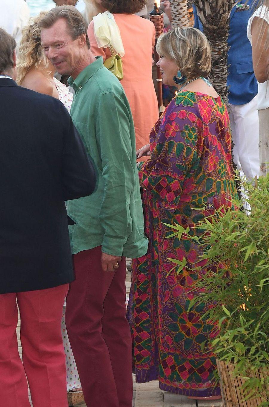 La grande-duchesse Maria Teresa de Luxembourg avec le grand-duc Henri à Marbella, le 1er septembre 2017