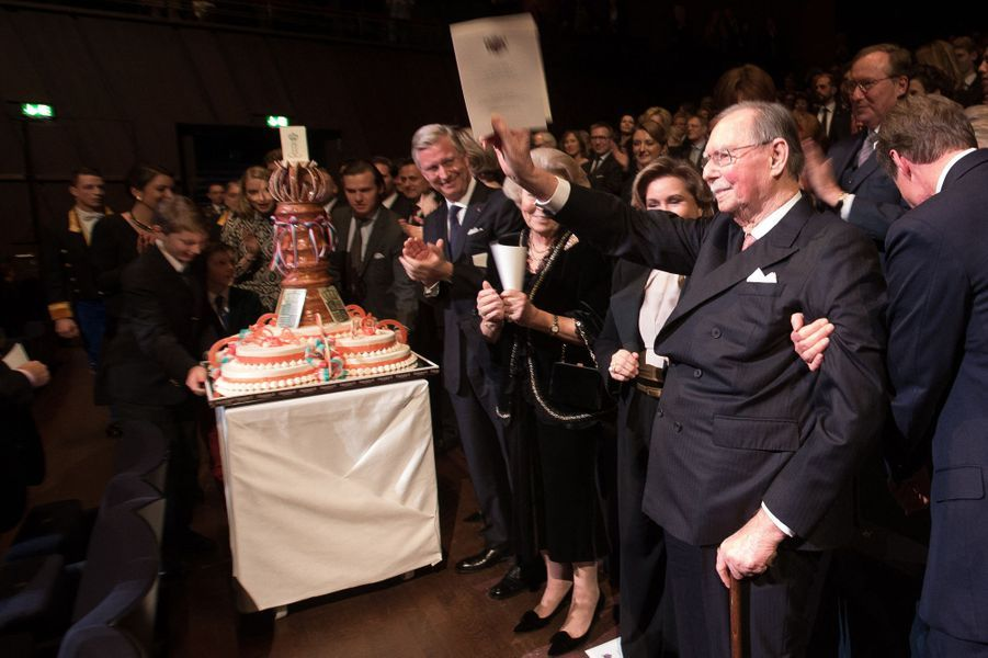 L'ex-grand-duc Jean de Luxembourg lors de la fête de ses 95 ans, le 9 janvier 2016