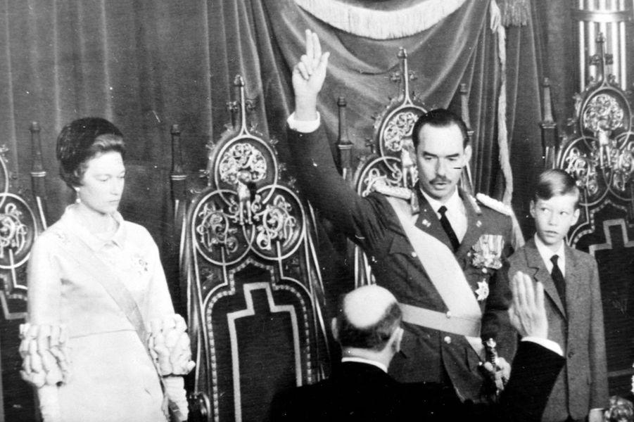 Le grand-duc Jean de Luxembourg, le jour de son accession au trône luxembourgeois, le 12 novembre 1964