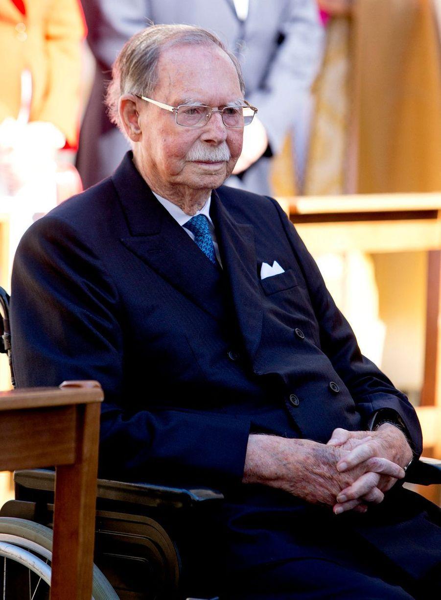 L'ex-grand-duc Jean de Luxembourg, le 6 mai 2018