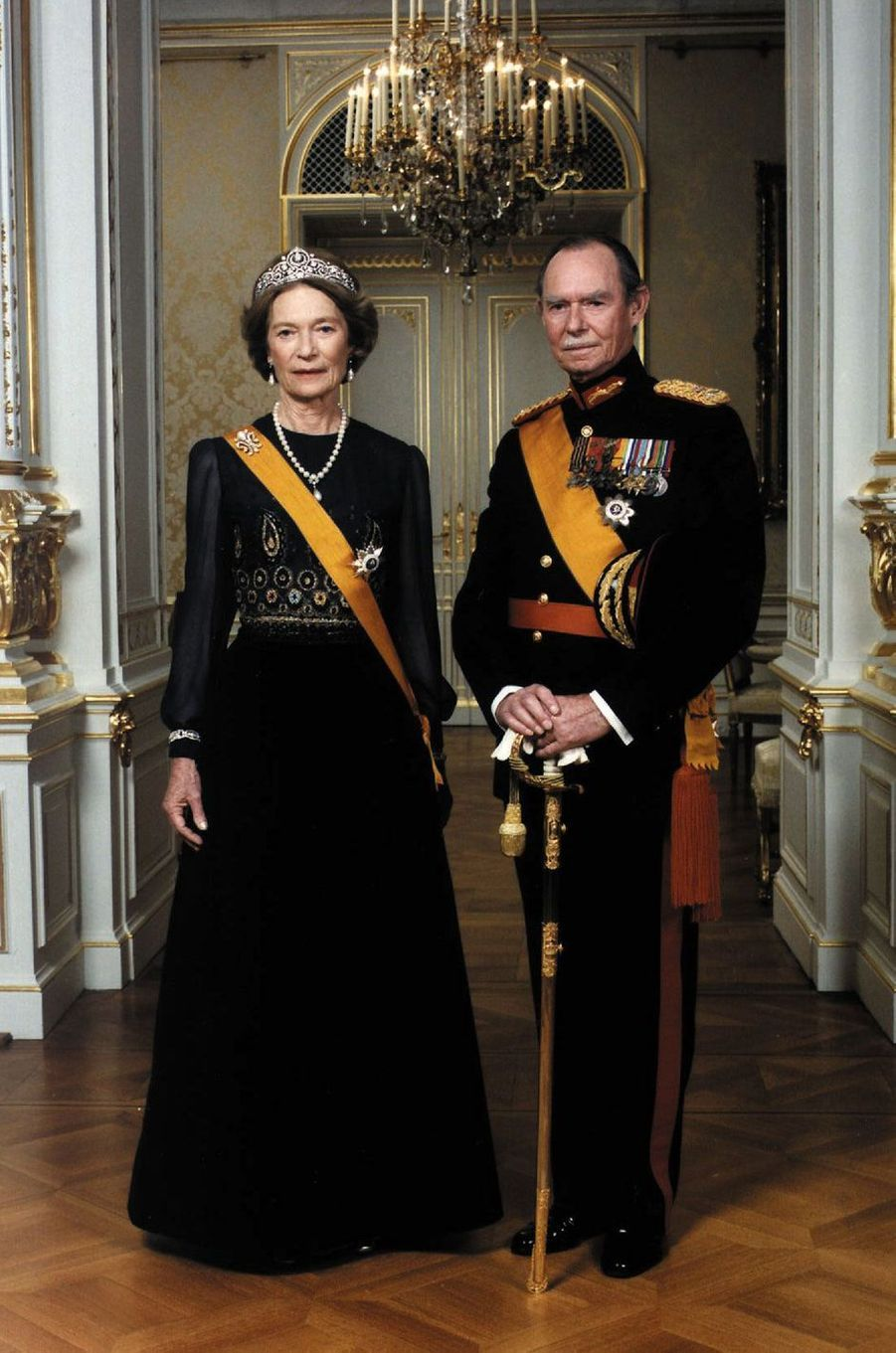 Le grand-duc Jean de Luxembourg et la grande-duchesse Joséphine-Charlotte, le 1er octobre 1996