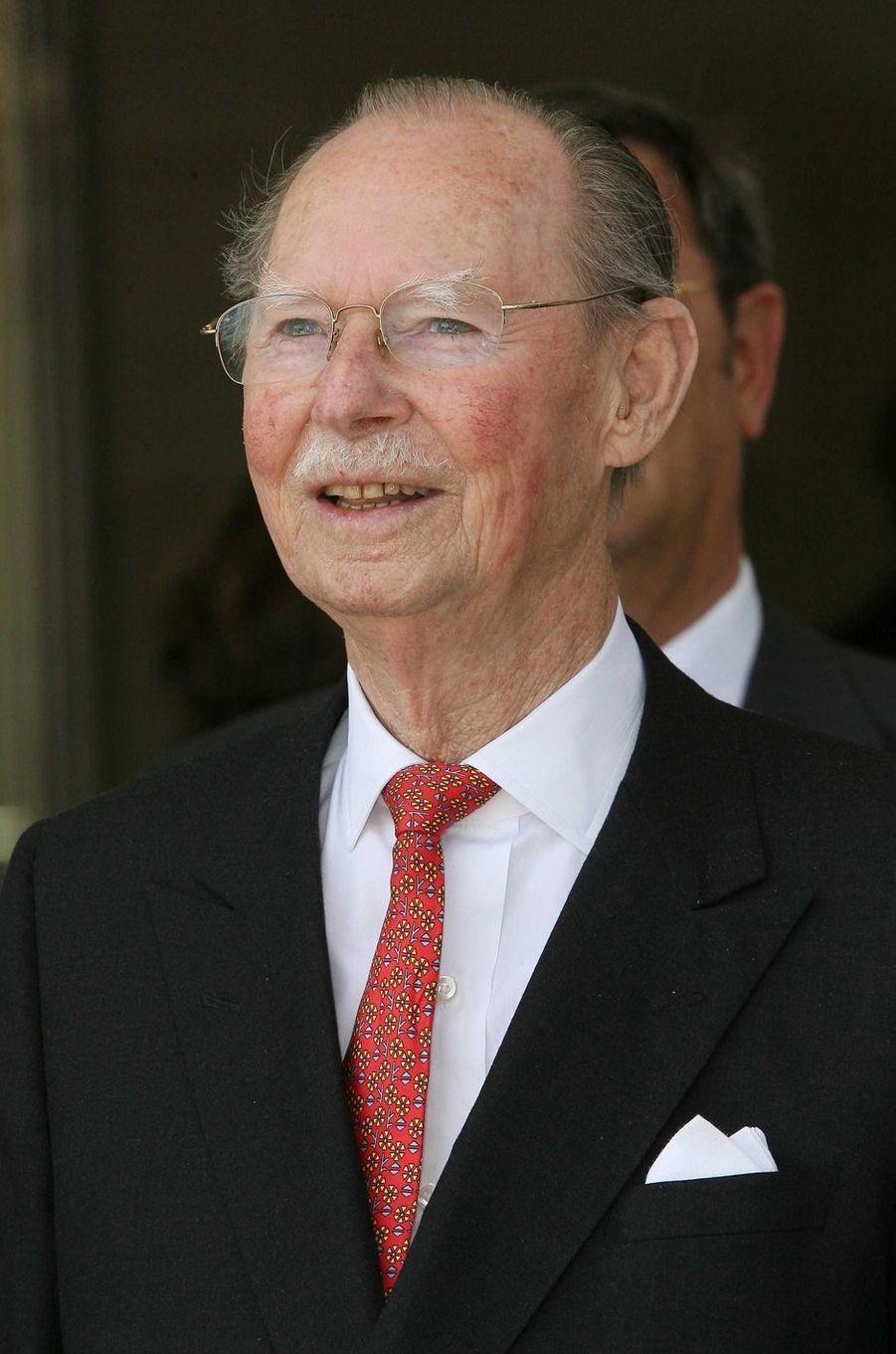 L'ex-grand-duc Jean de Luxembourg, le 1er juillet 2006