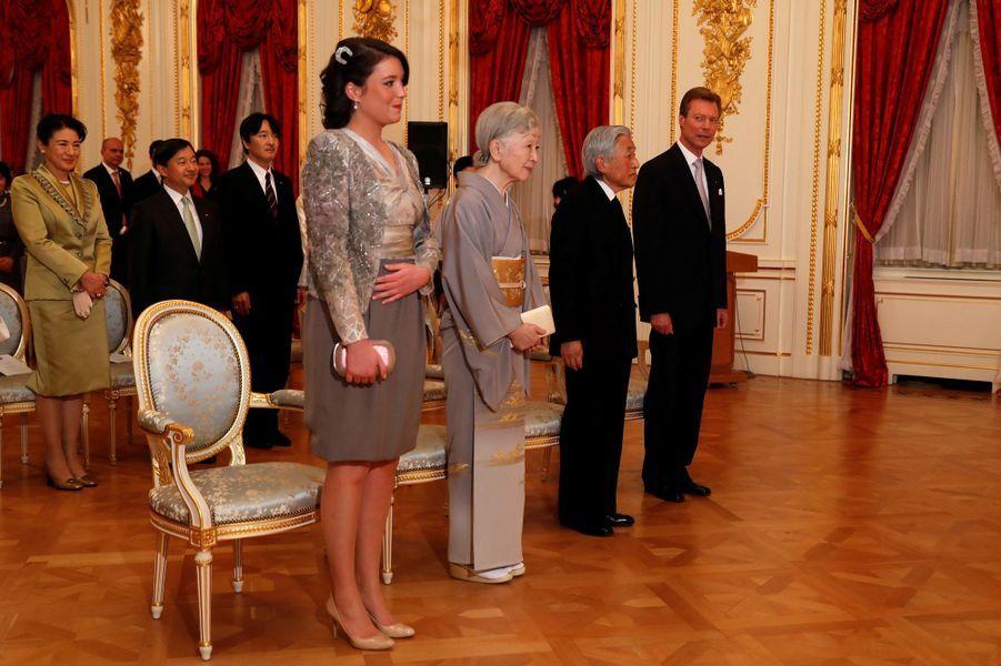 La princesse Alexandra et le grand-duc Henri de Luxembourg avec la famille impériale du Japon à Tokyo, le 29 novembre 2017