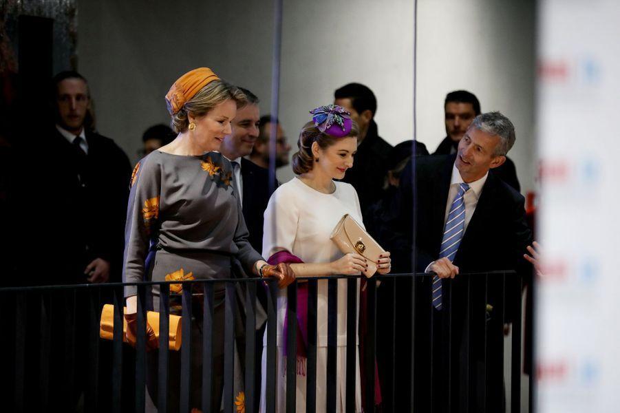 La reine des Belges Mathilde et la princesse Stéphanie de Luxembourg à Esch-Belval, le 16 octobre 2019